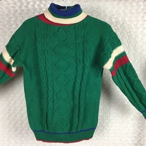 Vintage Cricket Cable Knit Sweater British Made M